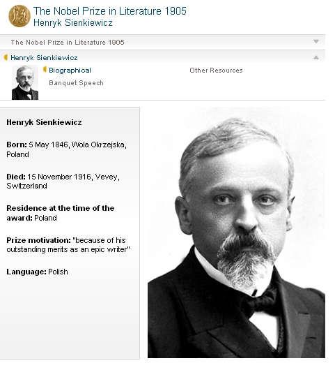 Henryk Sienkiewicz 1846-1916