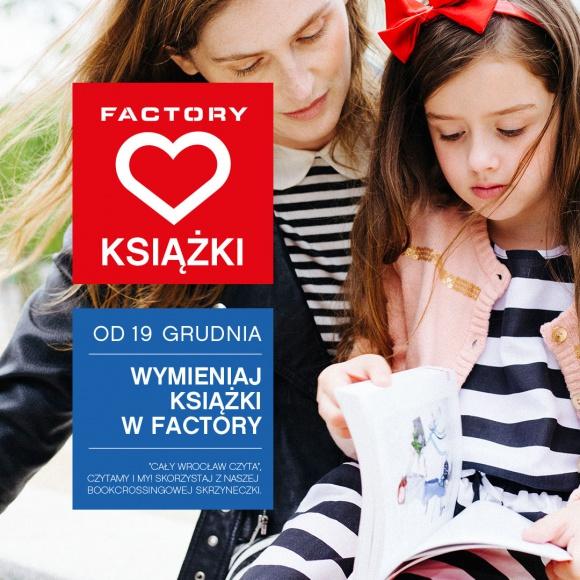 """Cały Wrocław czyta w Factory LIFESTYLE, Książka - Już 19 grudnia Factory dołączy do akcji """"Cały Wrocław czyta"""". Tego dnia pojawi się tam kolejny punkt book crossingu, który uzupełni sieć tworzoną w stolicy Dolnego Śląska"""