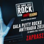 """GALA """"PŁYTY ROCKU ANTYRADIA 2016"""""""