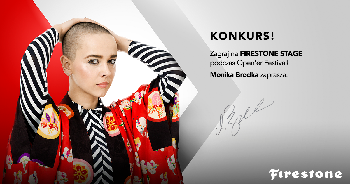 Monika Brodka w Jury konkursu FIRESTONE Headliners of Tomorrow