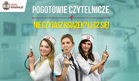 """Nie czytasz książek? Lecz się! LIFESTYLE, Książka - Statystyki czytelnictwa w Polsce od lat są alarmujące. Ale raporty czytają tylko ci... którzy czytają. Nie przekonają tych, którym drukowane litery kojarzą się tylko z nudą. Internetowa księgarnia TaniaKsiazka.pl wymyśliła więc """"Pogotowie Czytelnicze""""."""