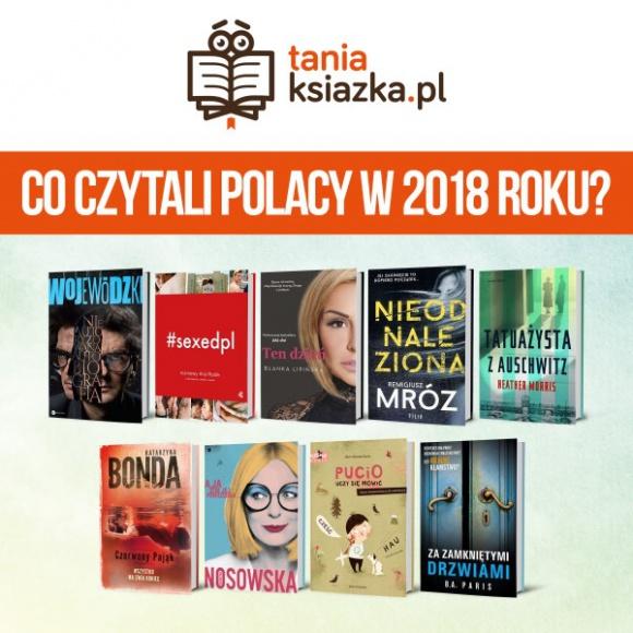 Co czytali Polacy w 2018 roku? LIFESTYLE, Książka - Miniony rok należał do Katarzyny Nosowskiej, Remigiusza Mroza, Katarzyny Bondy i Blanki Lipińskiej. To właśnie po tytuły tych autorów Polacy sięgali najchętniej.