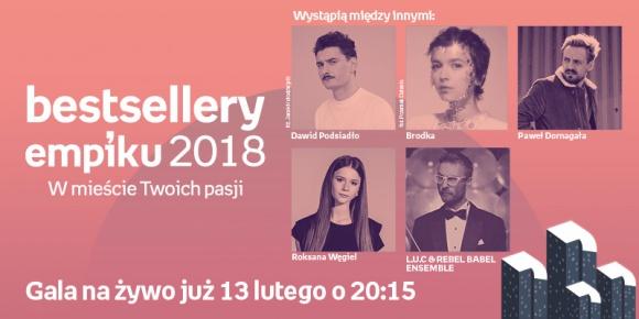Gala Bestsellerów Empiku 2018 w wyjątkowej muzycznej oprawie! LIFESTYLE, Muzyka - Dawid Podsiadło, Brodka i Paweł Domagała – m.in. te polskie gwiazdy wystąpią na Gali Bestsellerów Empiku 2018!