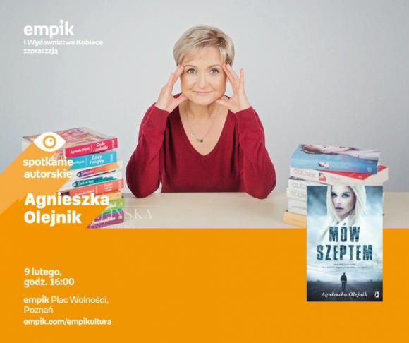Agnieszka Olejnik w poznańskim empiku. LIFESTYLE, Książka - Agnieszka Olejnik 9 lutego, godz. 16:00 Empik Plac Wolności, Poznań