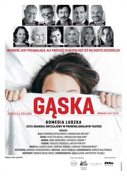 """Komedia ludzka """"Gąska"""" Nikołaja Kolady w reżyserii Dariusza Taraszkiewicza"""