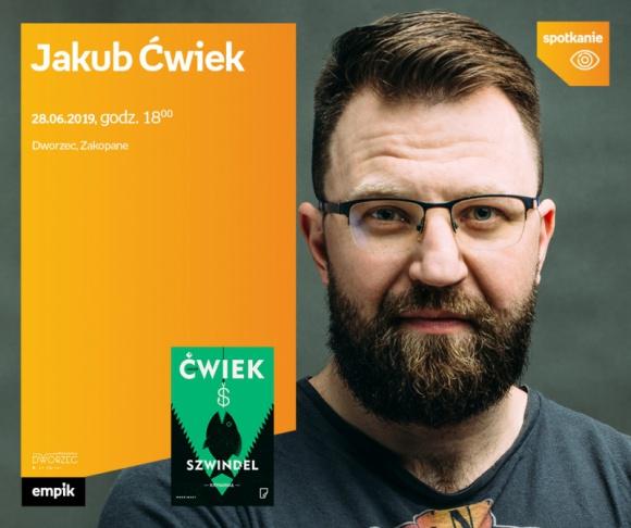 Jakub Ćwiek  Dworzec Zakopane LIFESTYLE, Książka - Jakub Ćwiek promuje nową książkę.