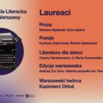Wieczór z laureatami 12. edycji Nagrody Literackiej m.st. Warszawy